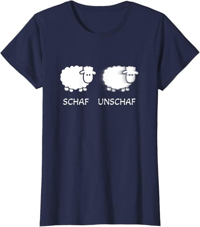 Schaf Unschaf lustiges T-Shirt für Fotografen